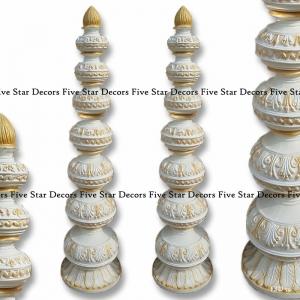 White Chauri matke Pillar