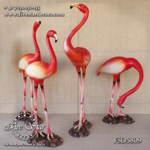 Flamingo birds set of 4