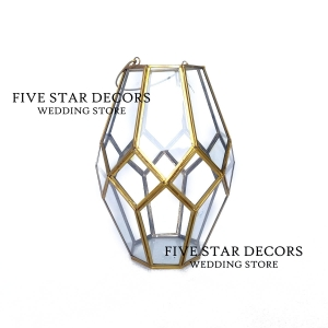 Geometric Glass Lantern